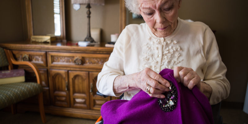 Senior women knitting - Loveland Housing
